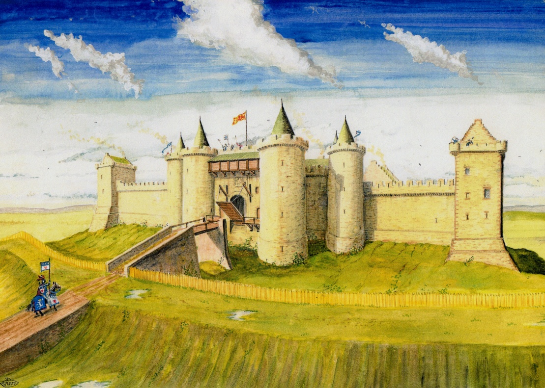A history of castles in the medieval period