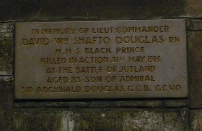 memorial to DWS Douglas